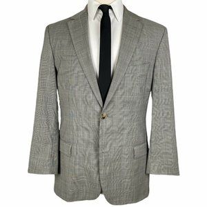 Hugo Boss Sport Coat 42L Gray Glen Plaid 2 Btn